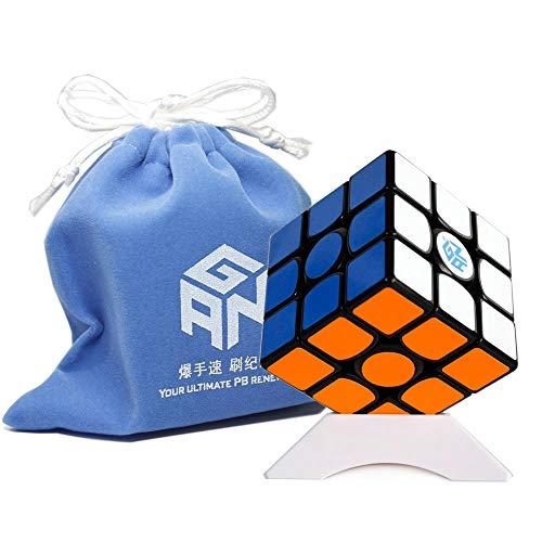 OJIN Ganspuzzle GAN356 Air Pro Numerical 3x3 Speed Cube GAN 356 Air Pro Magic Cube Puzzles Juguetes Suaves con un trípode y un Cubo (Negro)