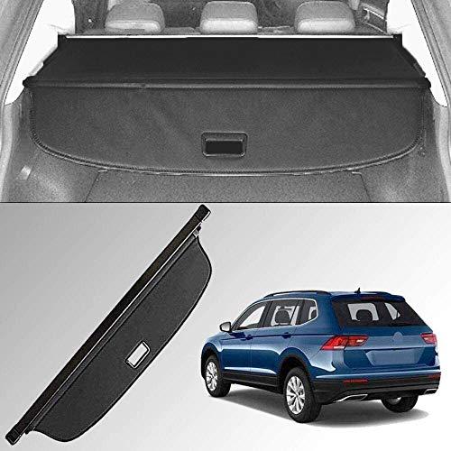 Caartonn Cargo Cover Compatible for 2018 2019 2020 2021 VW Volkswagen Tiguan Trunk Retractable Cargo Luggage Security Shade Cover Shield Black