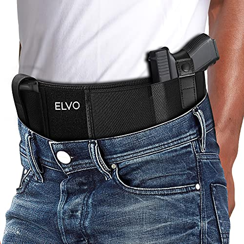 Belly Band Holster for Concealed Carry, Concealment Edition Waistband Gun Holsters for Men and Women, Fits Glock 19, 17, 42, 43, P238, P365, Taurus, S&W M&P Shield 9MM and Similar Pistol & Revolvers