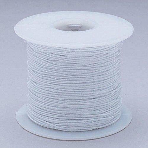 S&S Worldwide na S&S Worldwide White Medium Elastic Cord