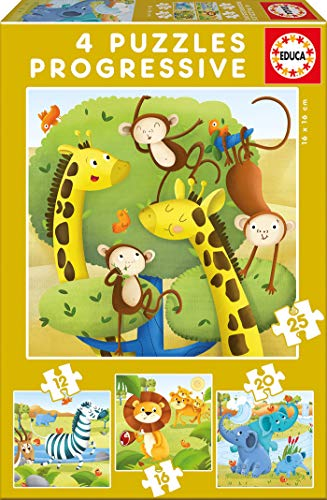 Educa Borrás - Animales Salvajes Set 4