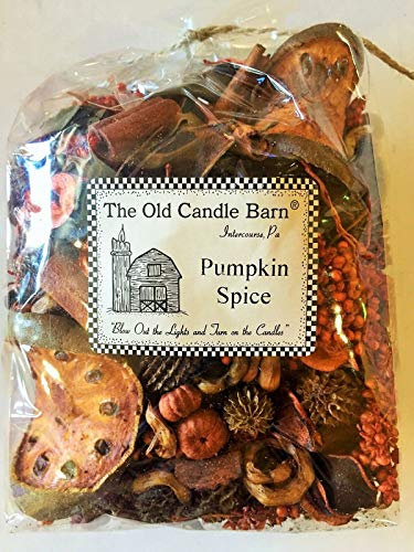 Old Candle Barn Pumpkin Spice Potpourri Large Bag - Perfect Fall Decoration or Bowl Filler - Beautiful Autumn Scent