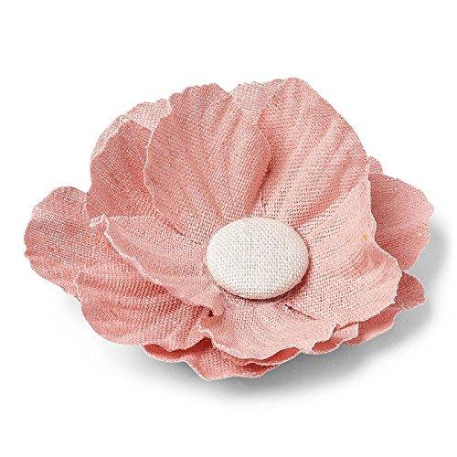 4 Fleurs Pivoines adhésives en lin - Rose