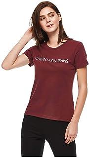 Calvin Klein T-Shirt for Women - Chintz Rose (XL-Maroon)