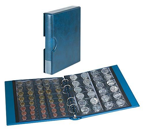 LINDNER Das Original Münzalbum Rondo mit 5 Münzblättern, inkl. Schutzkassette, blau