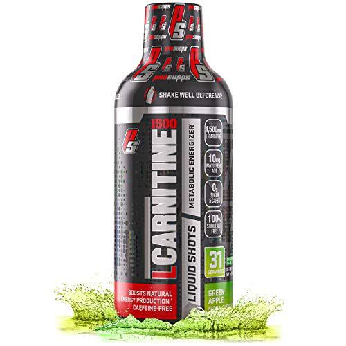 ProSupps® L-Carnitine 1500 Liquid Fat Burner, Stimulant Free Metabolic Enhancer (31 Servings, Green Apple)