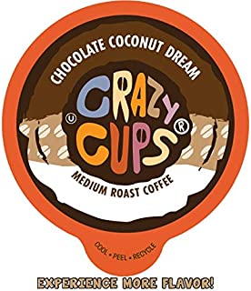 Crazy Cups Flavored Coffee for Keurig K-Cup Machines, Chocolate Coconut Dream, Hot or Iced Drinks, 22 Single Serve, Recycl...