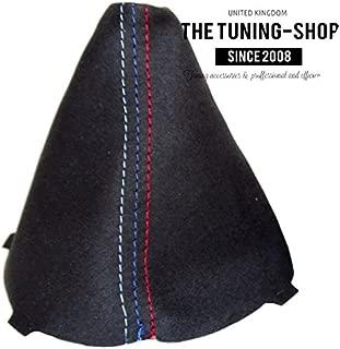 The Tuning-Shop Ltd for BMW 3 Series E90 E91 E92 E93 2005-13 Shift Boot Black Suede M3 /// Stitching