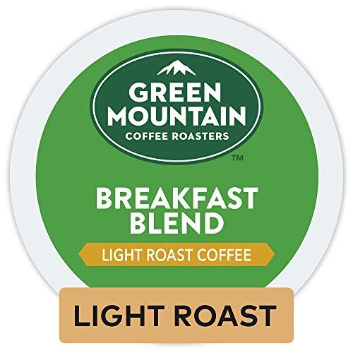 Green Mountain Coffee Keurig Single-Serve K-Cup Pods, Breakfast Blend Light Roast Coffee, 12 Count