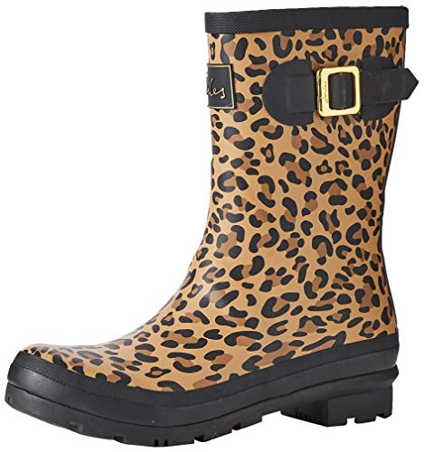 Joules Damen Molly Welly Gummistiefel, Braun (Dark Leopard Leopard), 36 EU