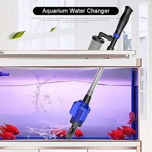 Carrfan Aquarium grinder Efficiënte elektrische automatische vacuüm waterwisselaar Flexibele Aquarium zand algen reiniger waterfilterpomp sifon reinigingsgereedschap