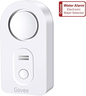 Govee Water Alarm, 100dB Loud Alarm Audio Water Sensor with Low Battery Alert, Easy to Use Wireless Water Leak Detector Water Alarm Sensor for Laundry, Basement, Apartment, Kitchen, Bathroom, Closet