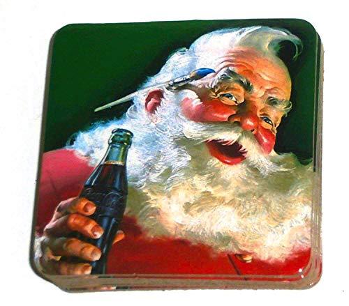 Coca Cola Holiday Santa Claus Coke Drink Sottobicchieri – Set di 6