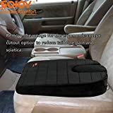 Best Heated Car Cushions - Sojoy Wedge Breathable Orthopedic Memory Foam Coccyx Support Review