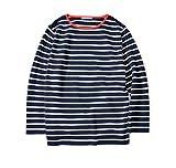 SLOANE×2nd コラボ別注 ボーダーコットンシャツ ネイビー×ホワイト (XL)