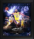 LeBron James Los Angeles Lakers Framed 15' x 17' Stars of the Game Collage - Facsimile Signature - NBA Player Plaques and Collages