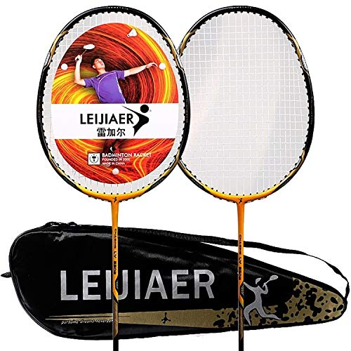 Best Deals! nobrand LTOnlineStore Carbon Complex Badminton Racket + 2 Sweatbands Set for Grownup (Co...
