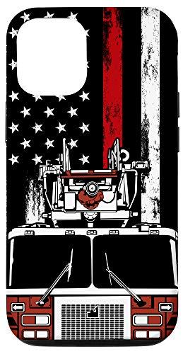 iPhone 12/12 Pro US Flag Firefighter Phone Case Firetruck Gift Fireman Phone Case