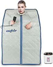 Mefeir 2L Steam Sauna Portable Home Spa, Full Body Slimming Loss Weight, Healthy Detox..