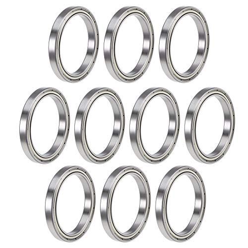 uxcell 6809ZZ Deep Groove Ball Bearings Z2 45mm x 58mm x 7mm Double Shielded Chrome Steel 10pcs