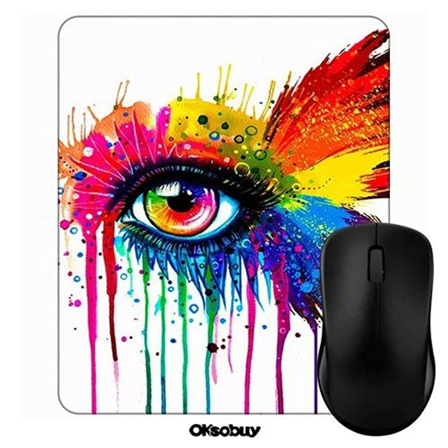 All Eyes Butterfly Wings Mouse Pad Oksobuy Custom Design,European City Landscape Mouse pad Gaming Mousepad Nonslip Rubber Backing