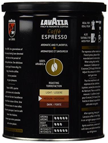 Lavazzo 8oz Ground Caffe Espresso