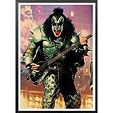 daerduotutu Heavy Metal Kiss Rock Band Carteles de Papel Kraft Lienzo Pintura Equipo de música Estrella clásico Decorativo B77 50 × 70 CM sin Marco