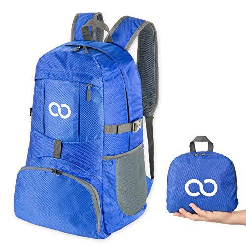 Yoosten - Der ultraleichte faltbare Rucksack, perfekt als Zusatz zum Reisen, Wandern, Sightseeing, Camping oder Sport. 420D Nylon - leicht, reißfest und wasserabweisend