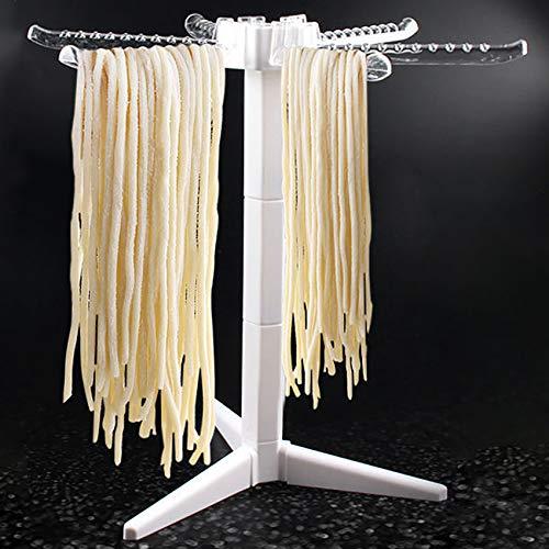 jingming Secador de pasta con 6 asas de conexión, plegable, para secar pasta, para espaguetis, pasta casera