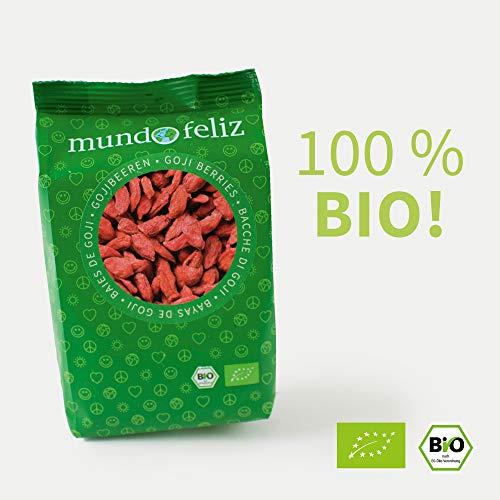 Mundo Feliz Goji-Beeren aus Bio-Anbau, 5 x 100 g