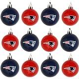 FOCO NFL New England Patriots 12 Pack Ball Hanging Tree Holiday Ornament Set12 Pack Ball Hanging Tree Holiday Ornament Set, Team Color, One Size