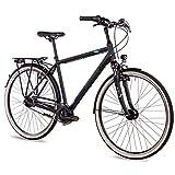 Airtracks Herren City Fahrrad 28 Zoll Cityrad CI.2820 Schwarz Matt (56cm (Körpergröße 175-185cm))