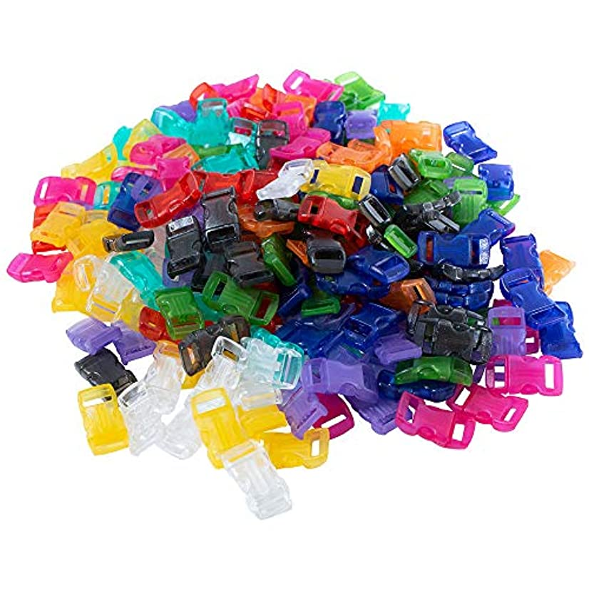 PARACORD PLANET Buckles – 3/8 Inch – Variety of Colors to Choose from – 100 Pack and 200 Pack