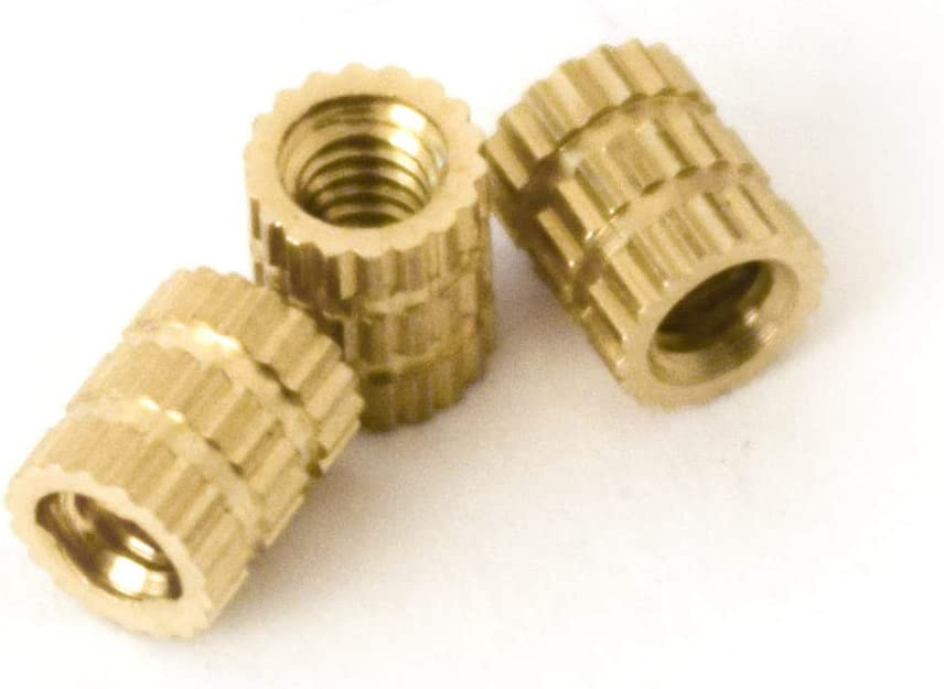 JJ Products Max 63% OFF M2 Brass Insert 4 Female Thread Length Max 78% OFF mm