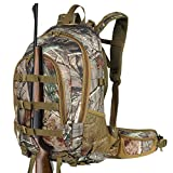 Hunting Backpack Outdoor Sports Daypacks Travel Bag Large Capacity Bow Durable Pack Camping Hiking Climbing Green