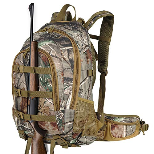 AUMTISC Hunting Backpack Outdoor Sports Daypacks Bags Bow Rifle Pistol Compatible with Rain Cover Durable Large Capacity Camouflage