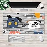 NZTCRFP Alfombrilla De Ratón Gaming Patrón De Cachorro De Dibujos Animados Alfombrilla De Escritorio 900X400X3MM, Superfície Con Textura Especial, Compatible Con Láser Y Óptico Para Juegos De Oficina/