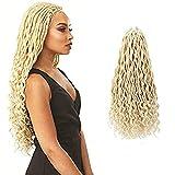 ELIGHTY Faux Locs Crochet Hair - 20 Inch Kanekalon Synthetic Fiber Braids Extensions - Soft, Light, Smooth - Curly Wavy Braiding Crotchet Hair For Black Women - 6 packs 613