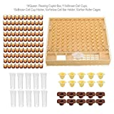 MEETOZ Beekeeping Complete Queen Rearing Cell Cup kit Catcher Box Hair Roll Cage Cupularve Apiculture System...