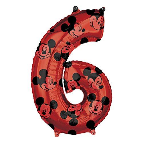 Globo de cumpleaños de Mickey Mouse número 6