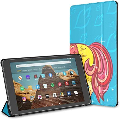 Estuche para Tableta de Dibujos Animados Pony Fire HD 10 (novena/séptima generación, versión 2019/2017) Estuche Protector para Kindle Fire Estuche Impermeable para Kindle Auto Wake/Sleep para Tab