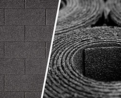 Alpholz Set zur Dacheindeckung von Gartenhäusern 9 | Dachpappe | Rechteckschindeln