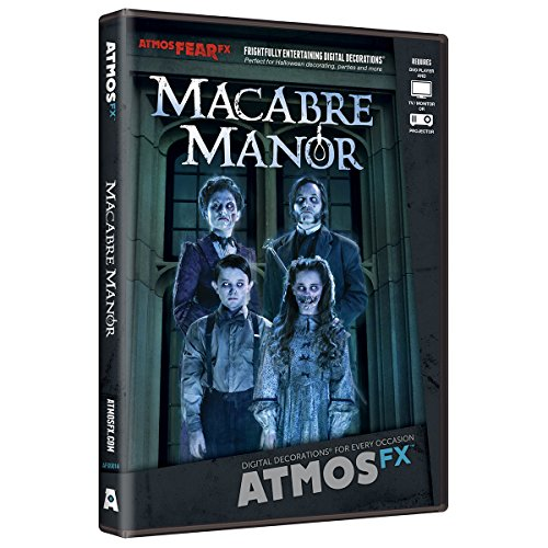AtmosFX Macabre Manor Digital Decorations DVD for Halloween Holiday Projection Decorating
