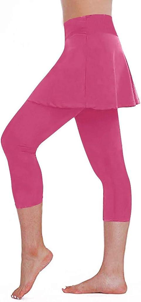 iHHAPY Women's Skirted Legging Yoga Pants New York Mall Capri Tennis Great interest Leggings