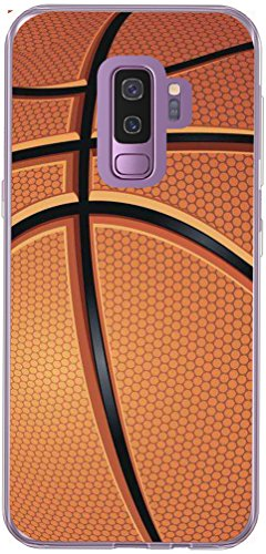 S9 Case & Galaxy S9 Cover & MUQR Skin Rubber Gel Silicone Slim Drop Proof Protection Protector Compatible with Samsung Galaxy S9 & Basketball Sport Design Pattern