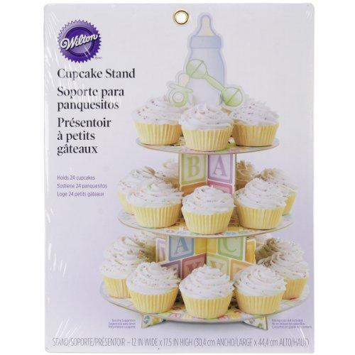 Wilton 079058 Etagere mit Babyfüßen, 30,5 x 44,5 cm, für 24 Cupcakes, Sonstige, mehrfarbig