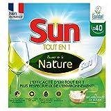 Sun Tablettes Lave-Vaisselle Ecologique Tout-En-1 Pouvoir de la Nature Eco-Label 40 Lavages (40 Tablettes)