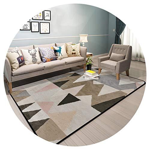 Rug Nniu Geometrische tapijt, korte pile, zacht groot tapijt voor woonkamer, slaapkamer, salontafel, mat, dikte: 1,2 cm