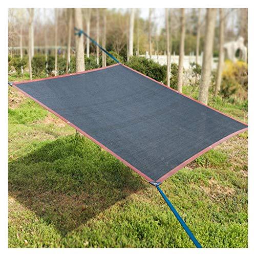 AWSAD Tela Sombra, 95% Toldo Parasol, Adecuado para Carport Flor Al Aire Libre, Sin Decoloración, Antienvejecimiento, Varios Tamaños (Color : Negro, Size : 6x6m)
