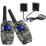 Retevis RT628 Walkie Talkies for Kids(2 Pair),Walkie Talkie Battery(2 Packs),22 Channels 2 Way Radio Long Range Kid Gift Toy,Army Toys for Outdoor Adventure Game Camp Hunt Trip